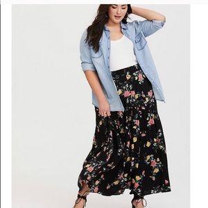 Sz 16 Floral Torrid Maxi Skirt
